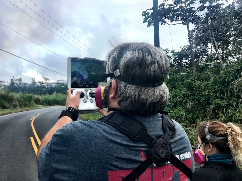 VOLUNTEER RESPONDERS USE ROBOTS AND NEW MAPPING TECHNOLOGIES TO SAVE LIVES AND PROPERTY IN HAWAII VOLCANO ERUPTION